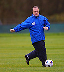 Dick Advocaat coaching and showing his ball skills