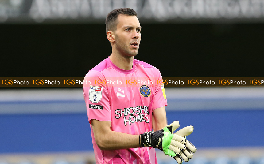 Dejan Iliev of Shrewsbury Town during AFC Wimbledon vs Shrewsbury Town, Sky Bet EFL League 1 Football at The Kiyan Prince Foundation Stadium on 17th October 2020