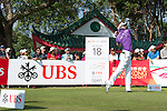 Jbe Kruger of South Africa tees off the 18th hole during the 58th UBS Hong Kong Golf Open as part of the European Tour on 11 December 2016, at the Hong Kong Golf Club, Fanling, Hong Kong, China. Photo by Marcio Rodrigo Machado / Power Sport Images