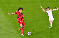Belgian midfielder Axel Witsel (6) pictured in a duel during a soccer game during the quarter final Euro 2020 European Championship between the Belgian national soccer team Red Devils and Italy , called the Azzurri , on friday 2 nd of July 2021  in the Allianz Arena in Munchen , Germany . PHOTO SPORTPIX   SPP   DAVID CATRY