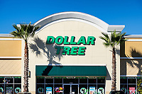 Dollor Tree store exterior and sign, Orlando, Florida, USA.