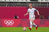 KASHIMA, JAPAN - JULY 27: Becky Sauerbrunn #4 of the United States controls the ball during a game between Australia and USWNT at Ibaraki Kashima Stadium on July 27, 2021 in Kashima, Japan.