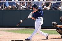 July 11, 2010: Everett AquaSox's Hawkins Gebbers (9) at-bat during a Northwest League game against the Salem-Keizer Volcanoes at Everett Memorial Stadium in Everett, Washington.