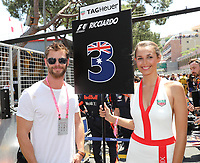 CHRIS HEMSWORTH - LES PEOPLE ASSISTENT AU GRAND PRIX DE FORMULE 1 DE MONACO, LE 28 MAI 2017, MONTE - CARLO
