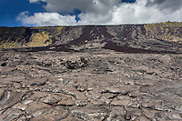 Old lava flow along Chain of Craters Road in Hawai'i Volcanoes National Park, Big Island.