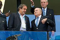 FIFA President Sepp Blatter and UEFA President Michelle Platini