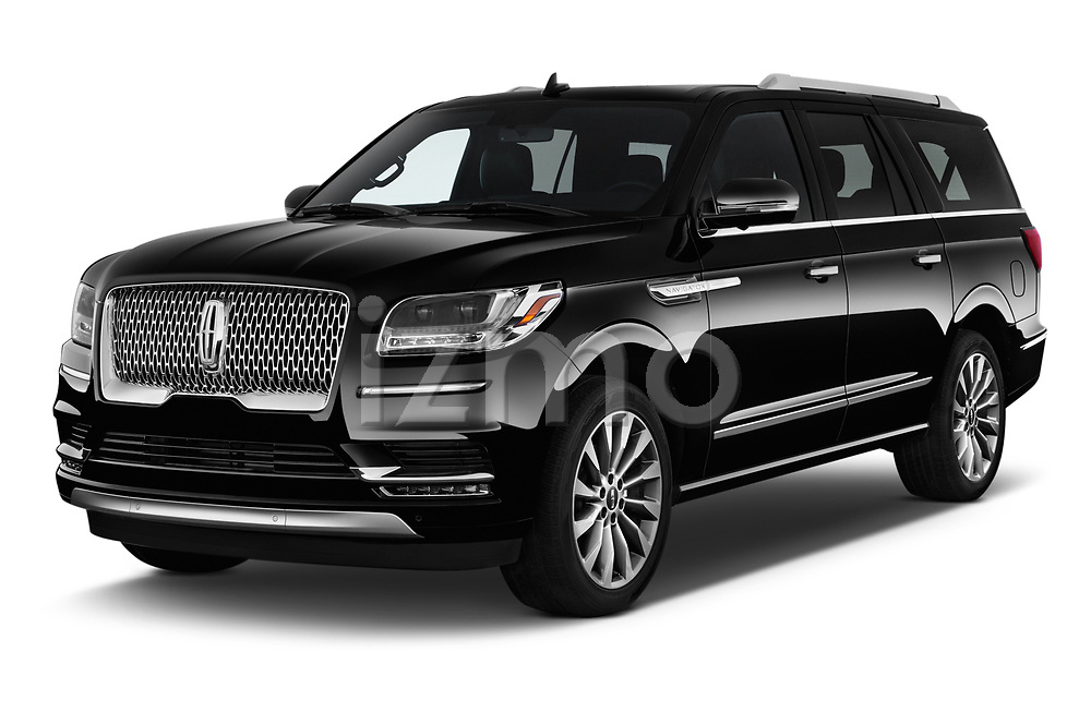 2018 Lincoln Navigator Select L Extended 4x2 5 Door SUV angular front stock photos of front three quarter view