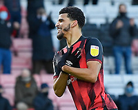Dominic Solanke of AFC Bournemouth scores his second goal and celebrates during AFC Bournemouth vs Huddersfield Town, Sky Bet EFL Championship Football at the Vitality Stadium on 12th December 2020