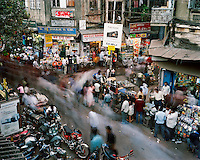 People move around the shops on Chandni Chowk road.. CHECK with MRM/FNA