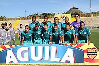BOGOTA -COLOMBIA, 8-02-2017. Team of Cortulua FC   against of Tigres FC  during match for the date 2 of the Aguila League I 2017 played at Metropolitano de Techo stadium . Photo:VizzorImage / Felipe Caicedo  / Staff