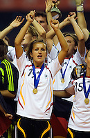 Germany midfielder (19) Fatmire Bajramaj during the post-game award ceremony. Germany defeated Brazil, 2-0 during the FIFA Women's World Cup final at Hongkou Stadium in Shanghai, China on September 30, 2007.
