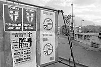 - Bolzano, elezioni regionali in Trentino Alto Adige del novembre 1975, manifesti di propaganda elettorale<br /> <br /> - Bolzano, regional elections in Trentino Alto Adige in November 1975, posters of electoral propaganda