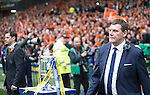 St Johnstone v Dundee United....17.05.14   William Hill Scottish Cup Final<br /> Tommy Wright and Jackie McNamara lead their teams out.<br /> Picture by Graeme Hart.<br /> Copyright Perthshire Picture Agency<br /> Tel: 01738 623350  Mobile: 07990 594431