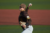 Valparaiso Crusaders starting pitcher Easton Rhodehouse (10) in action against the Western Kentucky Hilltoppers at Nick Denes Field on March 19, 2021 in Bowling Green, Kentucky. (Brian Westerholt/Four Seam Images)