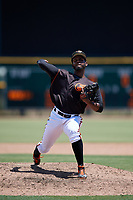 GCL Orioles pitcher Jose Alejandro (50) during a Gulf Coast League game against the GCL Red Sox on July 29, 2019 at Ed Smith Stadium in Sarasota, Florida.  GCL Red Sox defeated the GCL Pirates 9-1.  (Mike Janes/Four Seam Images)