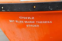 M/T Else Marie Theresa off the coast of Littlehaven Pembrokeshire, Wales, UK. 19 April 2018