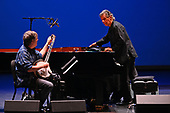WEST PALM BEACH, FL - MAY 17: Bela Fleck and Chick Corea perform at The Kravis Center for the Performing Arts on May 17, 2019 in West Palm Beach Florida. Credit Larry Marano © 2019