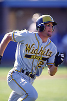 1996: Casey Blake of the Wichita State Shockers during game at Blair Field in Long Beach,CA.  Photo by Larry Goren/Four Seam Images