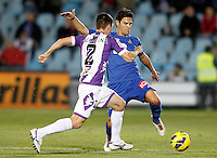 Getafe's Jaime Gavilan (r) and Real Valladolid's Antonio Rukavina during La Liga match.November 18,2012. (ALTERPHOTOS/Acero) NortePhoto