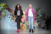 Fyodor Podgorny and Golan Frydman<br /> front row at the Fyodor Golan London Fashion Week SS18 catwalk show, London<br /> <br /> ©Ash Knotek  D3431  14/09/2018