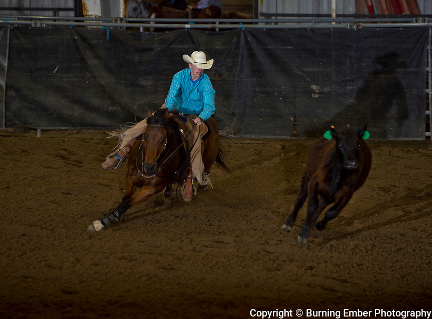 Quincy Reynolds in the Reined Cow Horse event at the Wyoming State High School Finals Rodeo in Rock Springs Wyoming.  Photo by Josh Homer/Burning Ember Photography.  Photo credit must be given on all uses.