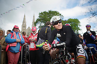 Adam Hansen (AUS/Lotto-Belisol) at the start with Saint-Patricks Cathedral in the background<br /> <br /> Giro d'Italia 2014<br /> stage 3: Armagh (NI) - Dublin (IRL) 187km
