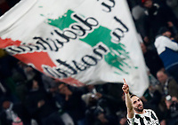 Football Soccer: UEFA Champions League Juventus vs Tottenahm Hotspurs FC Round of 16 1st leg, Allianz Stadium. Turin, Italy, February 13, 2018. <br /> Juventus' Gonzalo Higuain (c) celebrates after scoring his second goal in the match during the Uefa Champions League football soccer match between Juventus and Tottenahm Hotspurs FC at Allianz Stadium in Turin, February 13, 2018.<br /> UPDATE IMAGES PRESS/Isabella Bonotto