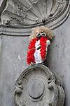 Belgium, Province Brabant, Brussels: Manneken Pis dressed as French singer Michel Polnareff