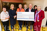 Members of the Tralee Flower and Garden Club presenting a cheque of €400 to Pieta House in Baile Mhuire on Monday night. L to r: Margaret Groves, Bernie Nealon, Ann Sullivan, Sheila Sugrue, Con O'Connor (Pieta House), Betty Carey and Joan Murphy.