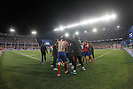 Atletico de Madrid's players celebrate the victory in the UEFA Champions League match. March 15,2016. (ALTERPHOTOS/Acero)