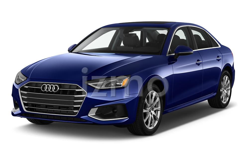 2020 Audi A4-Sedan Premium 4 Door Sedan Angular Front automotive stock photos of front three quarter view