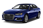 2020 Audi A4-Sedan Premium 4 Door Sedan Angular Front automotive stock photos of front three quarter view