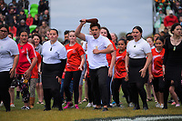 A haka is performed before the Mitre 10 Cup Cup rugby match between Manawatu Turbos and Southland Stags at Manfeild Park in Feilding, New Zealand on Saturday, 1 November 2020. Photo: Dave Lintott / lintottphoto.co.nz