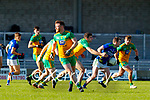 Tom O'Sullivan, Kerry in action against Caolan McGonigle, Donegal  during the Allianz Football League Division 1 Round 7 match between Kerry and Donegal at Austin Stack Park in Tralee on Saturday.