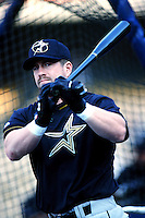 Jeff Bagwell of the Houston Astros before a 1999 Major League Baseball season game against the Los Angeles Dodgers in Los Angeles, California. (Larry Goren/Four Seam Images)