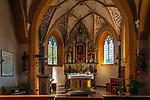 Italien, Suedtirol (Trentino - Alto Adige), Kolfuschg (Colfosco in Badia): Pfarrkirche - innen | Italy, South Tyrol (Trentino - Alto Adige), Colfosco in Badia: with parish church - interior