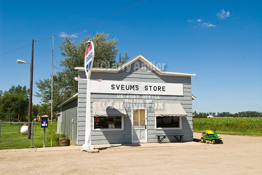 Sveums Store and Post Office building, old Standard Oil sign, McLeod, North Dakota
