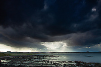 Belhaven Bay, Traprain Law and North Berwick Law from the John Muir Way, John Muir Country Park, Dunbar, East Lothian