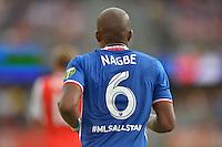 San Jose, CA - Thursday July 28, 2016: Darlington Nagbe during a Major League Soccer All-Star Game match between MLS All-Stars and Arsenal FC at Avaya Stadium.