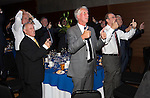 St Johnstone Hall of Fame Dinner, Perth Concert Hall...05.10.13<br /> St Johnstone team of 1969 play Heads and Tails, pictured from left Jim Donaldson, Henry Hall, Benny Rooney, Jim Pearson, John Connolly and Alex Rennie.<br /> Picture by Graeme Hart.<br /> Copyright Perthshire Picture Agency<br /> Tel: 01738 623350  Mobile: 07990 594431
