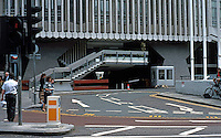 """London: Centre Point-Detail-Traffic Patterns at """"St. Giles Circus"""" (sic)--intersection of Oxford St/New Oxford and Charing Cross/Tottenham Court Road."""