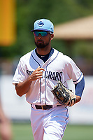 Charlotte Stone Crabs Garrett Whitley (16) during a Florida State League game against the Dunedin Blue Jays on April 17, 2019 at Charlotte Sports Park in Port Charlotte, Florida.  Charlotte defeated Dunedin 4-3.  (Mike Janes/Four Seam Images)