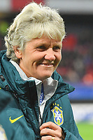 20200307  Valenciennes , France : Brazilian head coach Pia Sundhage  pictured during the female football game between the national teams of France and Brasil on the second matchday of the Tournoi de France 2020 , a prestigious friendly womensoccer tournament in Northern France , on Saturday 7 th March 2020 in Valenciennes , France . PHOTO SPORTPIX.BE | DIRK VUYLSTEKE