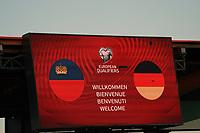 Anzeigetafel - St. Gallen 02.09.2021: Lichtenstein vs. Deutschland, WM-Qualifikation, St. Gallen