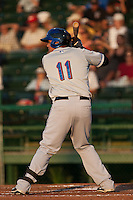 Francisco Pena #11 of the St. Lucie Mets during a game against the Daytona Cubs at Jackie Robinson Ballpark on May 25, 2011 in Daytona Beach, Florida. (Scott Jontes / Four Seam Images)