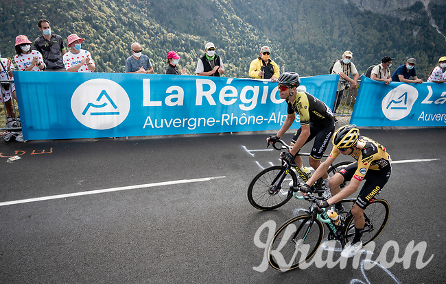 up the Puy Mary (uphill finish)<br /> <br /> Stage 13 from Châtel-Guyon to Pas de Peyrol (Le Puy Mary) (192km)<br /> <br /> 107th Tour de France 2020 (2.UWT)<br /> (the 'postponed edition' held in september)<br /> <br /> ©kramon
