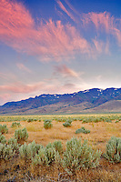 Steens Mountain at sunrise. Oregon