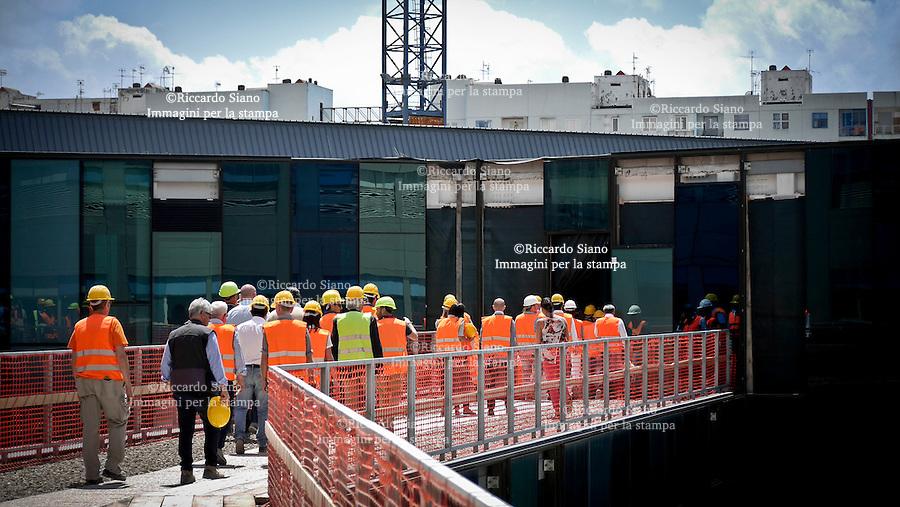- NAPOLI 30 GIU  2014 -   Visita ai cantieri dell'Ospedale del Mare.