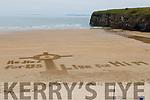 Sand message on   Ballybunion beach on Good Friday