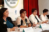 Conference de presse de la Federation des Comites de Parents du Quebec, 30 Aout 2015.<br /> <br /> PHOTO : Agence Quebec Presse